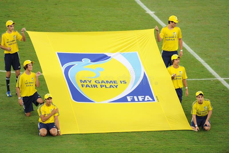 Bandeira justa do jogo de FIFA imagem de stock royalty free