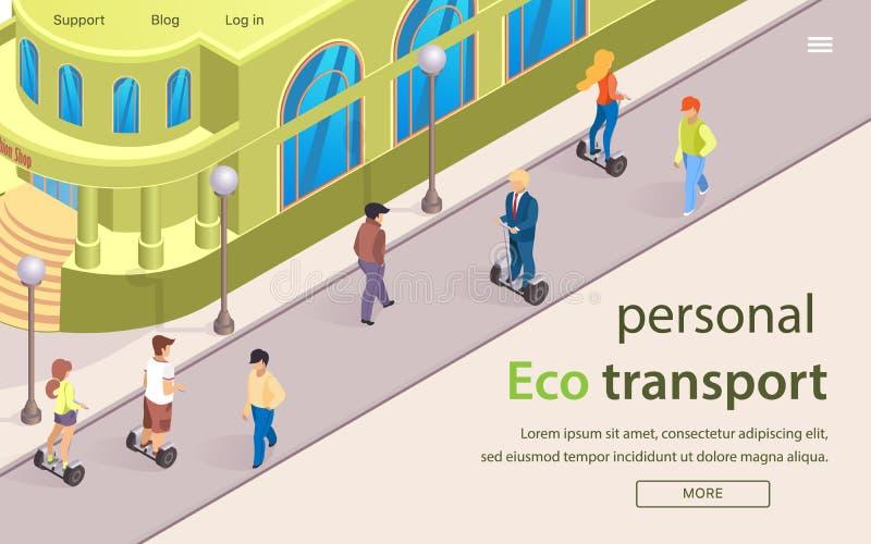 A bandeira lisa ? escrita o transporte pessoal de Eco ilustração royalty free