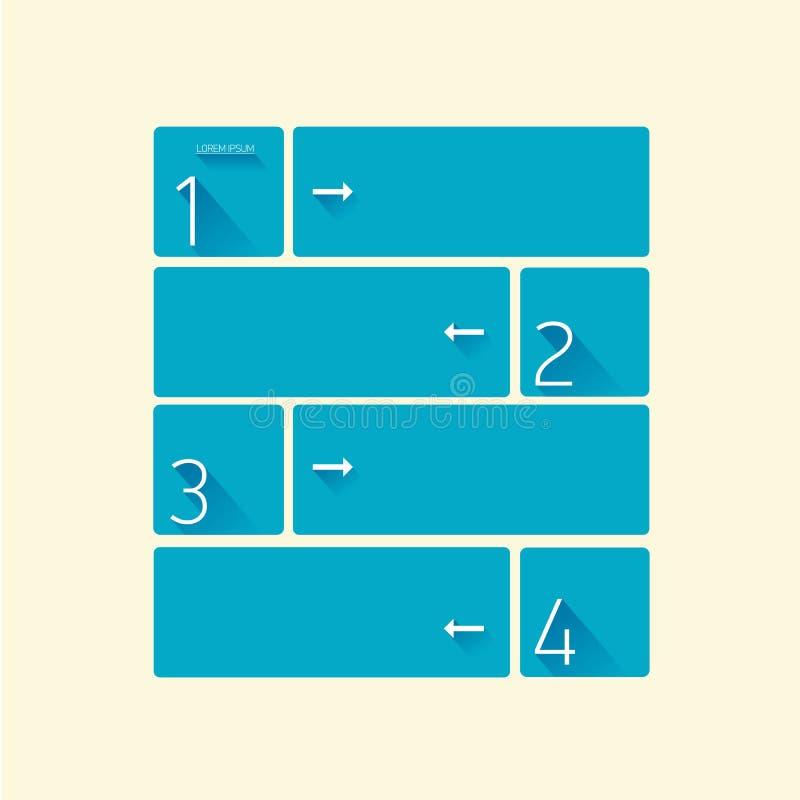 Bandeira lisa na moda moderna azul do projeto ilustração stock