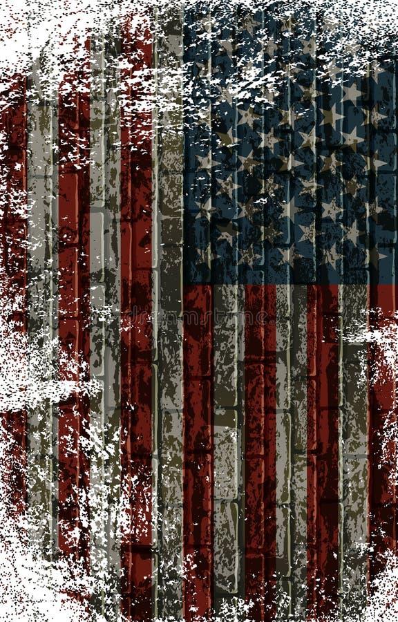 Bandeira listrada americana ilustração stock