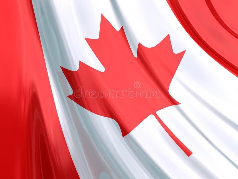 Bandeira lustrosa de Canadá ilustração stock