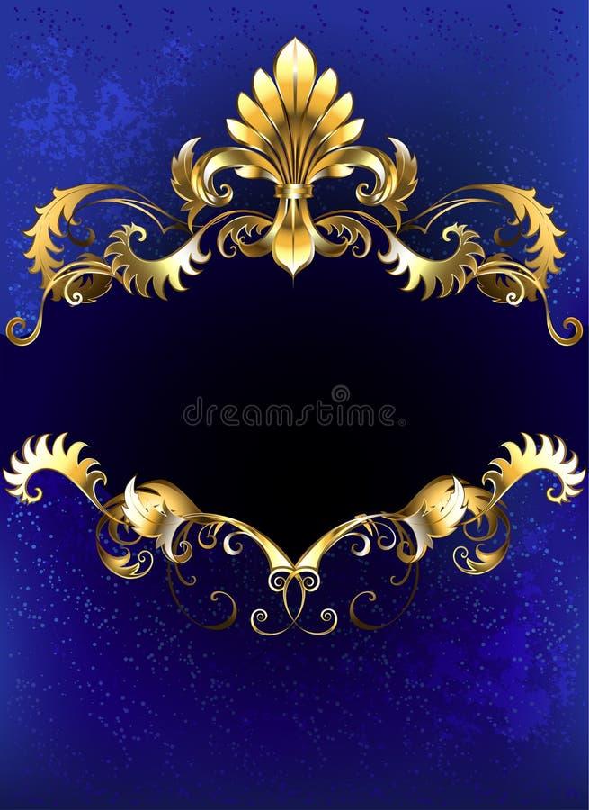 Bandeira luxuosa azul ilustração do vetor