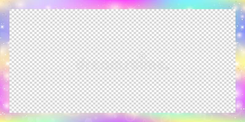 Bandeira mágica com malha do arco-íris e espaço para o texto ilustração stock