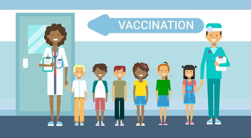 Bandeira médica da medicina do serviço do hospital dos cuidados médicos da imunização da prevenção da doença do doutor Vaccinatio ilustração royalty free