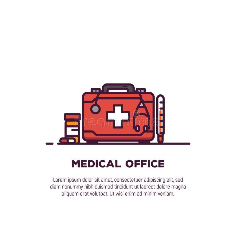 Bandeira médica do caso ilustração royalty free