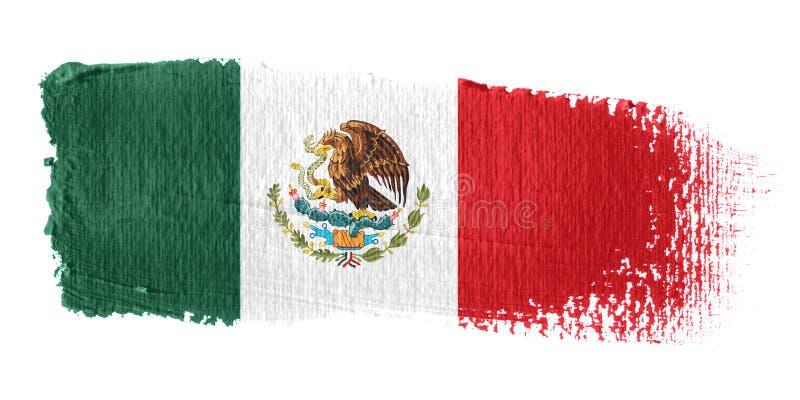 Bandeira México do Brushstroke ilustração do vetor