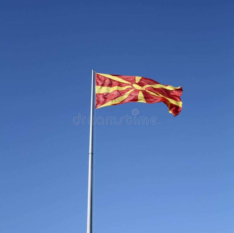 Bandeira macedónia fotografia de stock royalty free