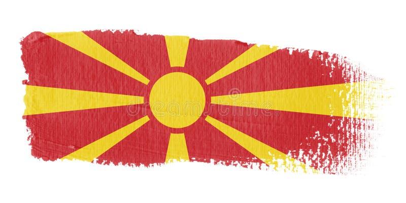 Bandeira Macedónia do Brushstroke ilustração stock