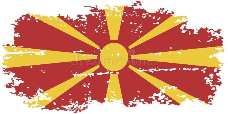 Bandeira macedônia do grunge Ilustração do vetor ilustração stock