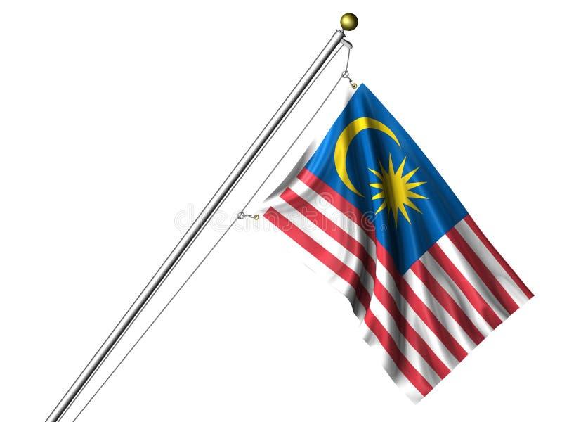 Bandeira malaia isolada ilustração do vetor