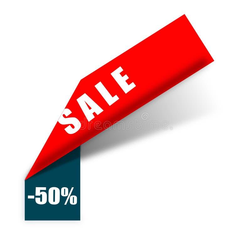 Bandeira mega da venda da oferta limitada Cartaz da venda Venda grande, oferta especial, 50 fora Ilustra??o do vetor ilustração royalty free