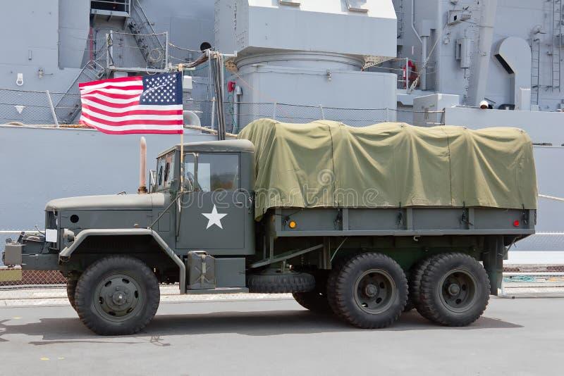 Bandeira militar dos EUA do caminhão imagem de stock royalty free