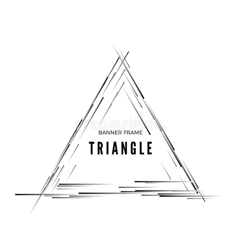 Bandeira moderna abstrata triangular Quadro geométrico da forma Ilustra??o do vetor isolada no fundo branco ilustração royalty free