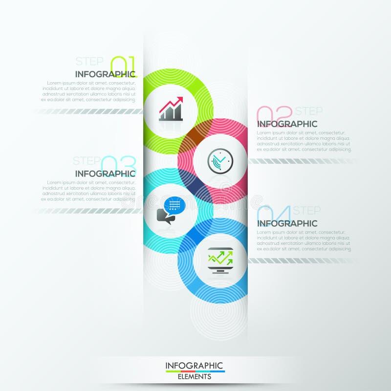 Bandeira moderna das opções do infographics ilustração do vetor