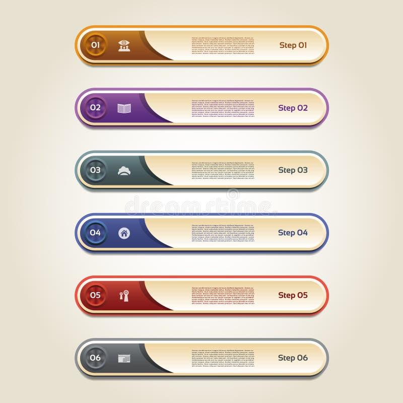 Bandeira moderna das opções do infographics Ilustração do vetor ilustração do vetor