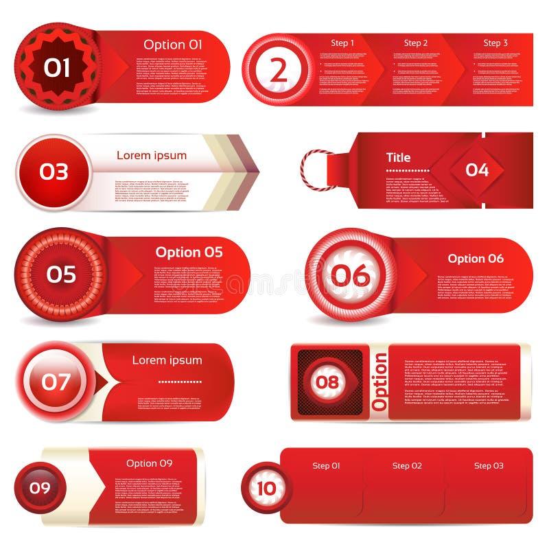 Bandeira moderna das opções do infographics Ilustração do vetor pode ser usado para a disposição dos trabalhos, diagrama, opções  ilustração do vetor