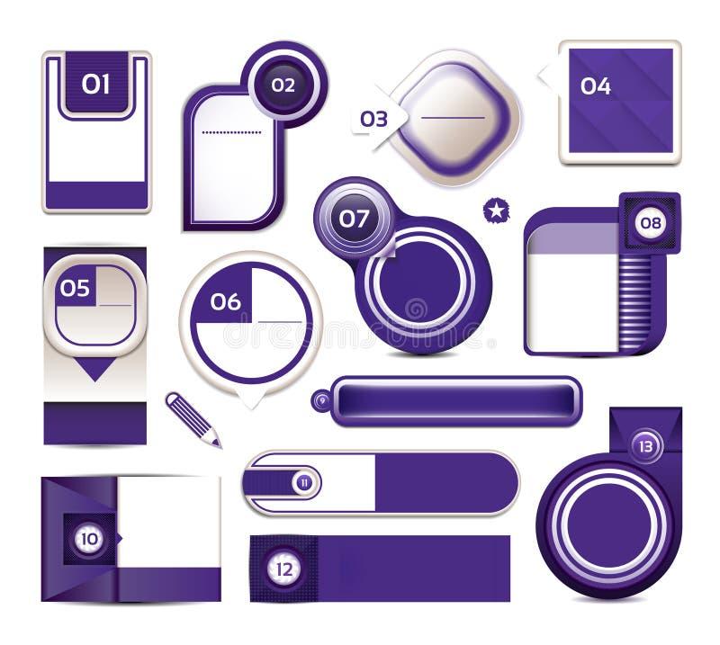 Bandeira moderna das opções do infographics Ilustração do vetor pode ser usado para a disposição dos trabalhos, diagrama, opções  ilustração stock