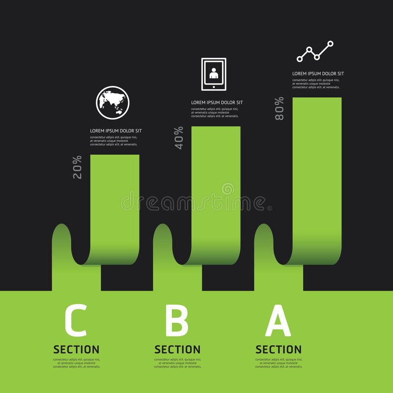 Bandeira moderna das opções do projeto do infographics Ilustração do vetor ilustração do vetor
