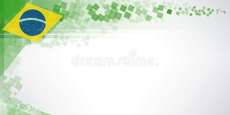 Bandeira moderna de Brasil ilustração royalty free