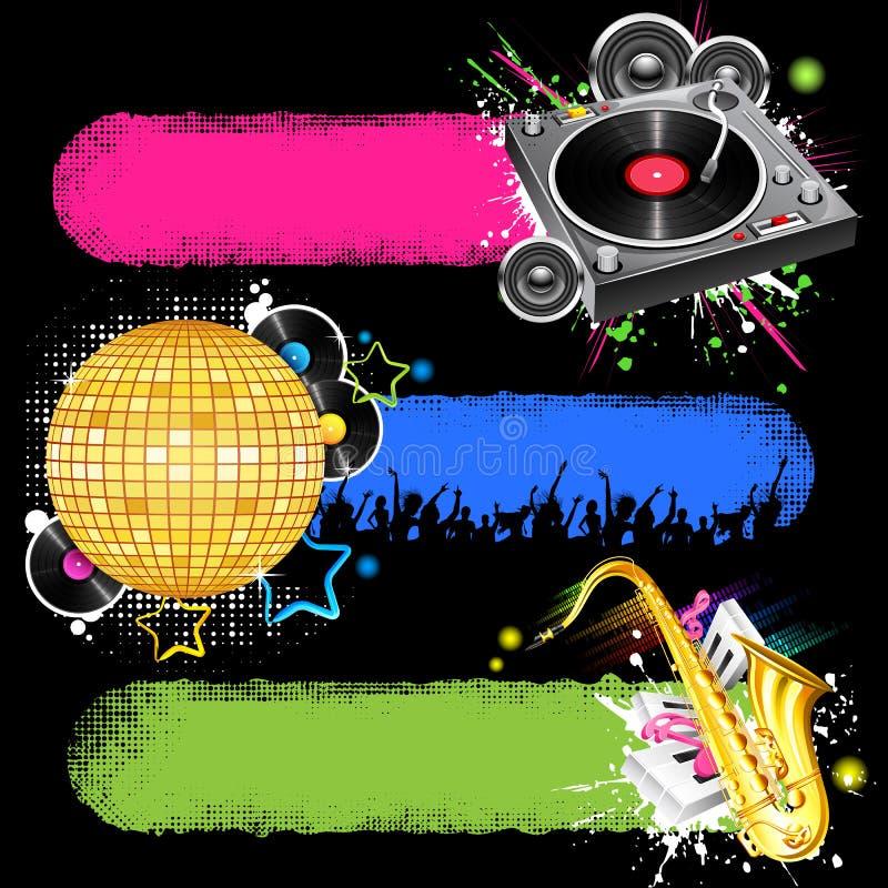 Bandeira musical ilustração royalty free