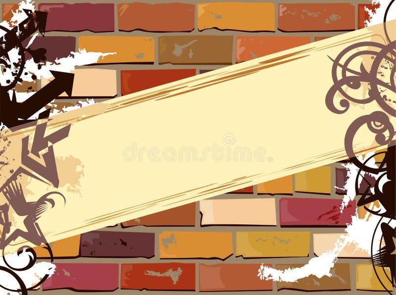 Bandeira na parede imagem de stock