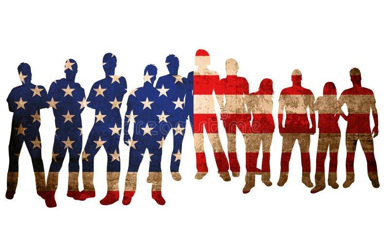 Bandeira nacional América ilustração stock