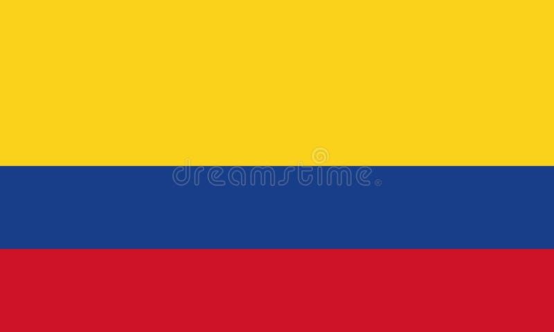 Bandeira nacional Colômbia ilustração royalty free