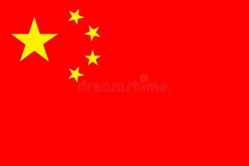 Bandeira nacional da República Popular da China ilustração royalty free