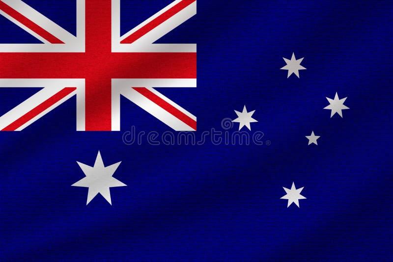 Bandeira nacional de Austrália ilustração royalty free