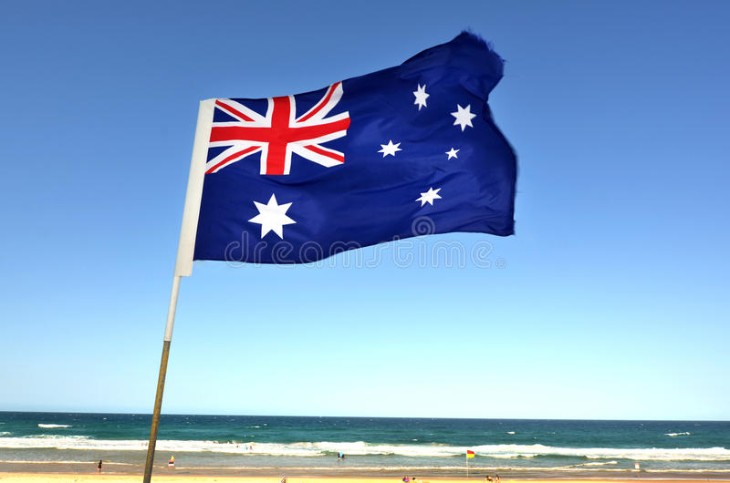 A bandeira nacional de Austrália imagens de stock royalty free