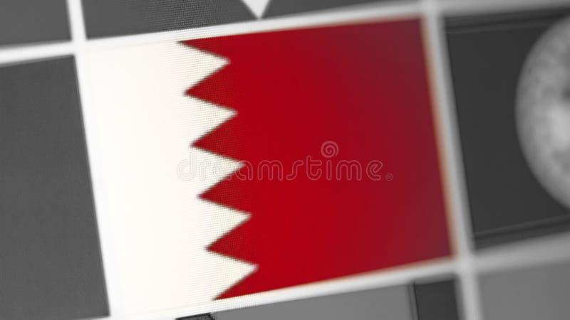 Bandeira nacional de Barém do país Bandeira de Barém na exposição, um efeito de ondeamento digital imagem de stock royalty free