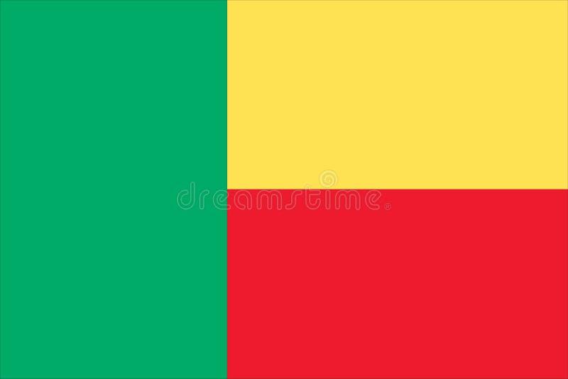 a bandeira nacional de benin ilustração stock