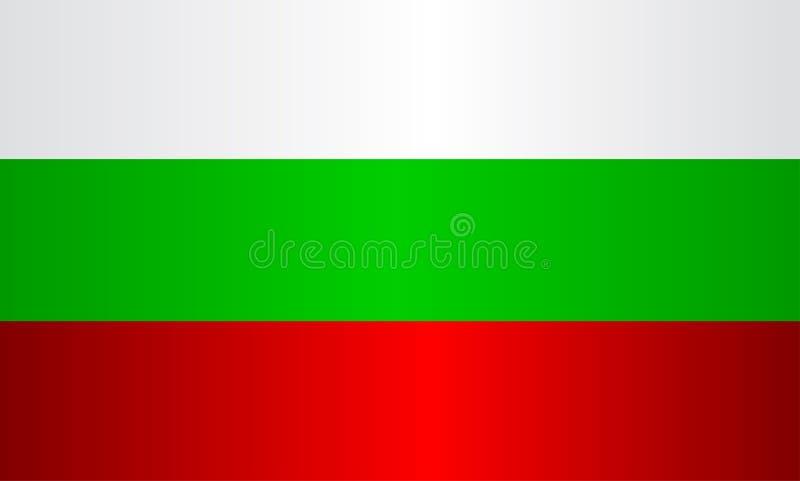 Bandeira nacional de Bulgária ilustração stock