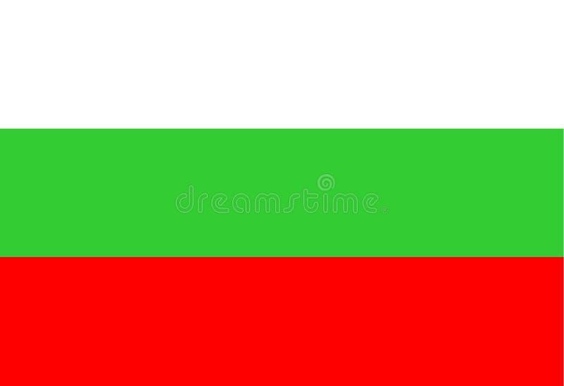 Bandeira nacional de Bulgária ilustração royalty free