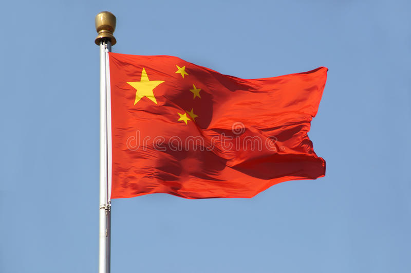 Bandeira nacional de China fotos de stock