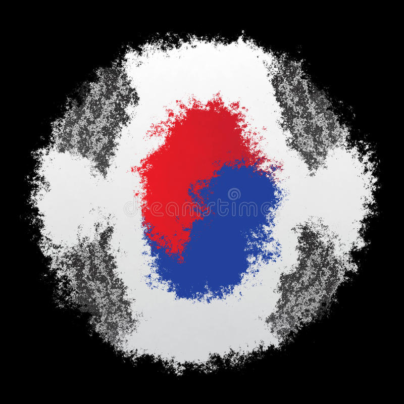 Bandeira nacional de Coreia do Sul foto de stock