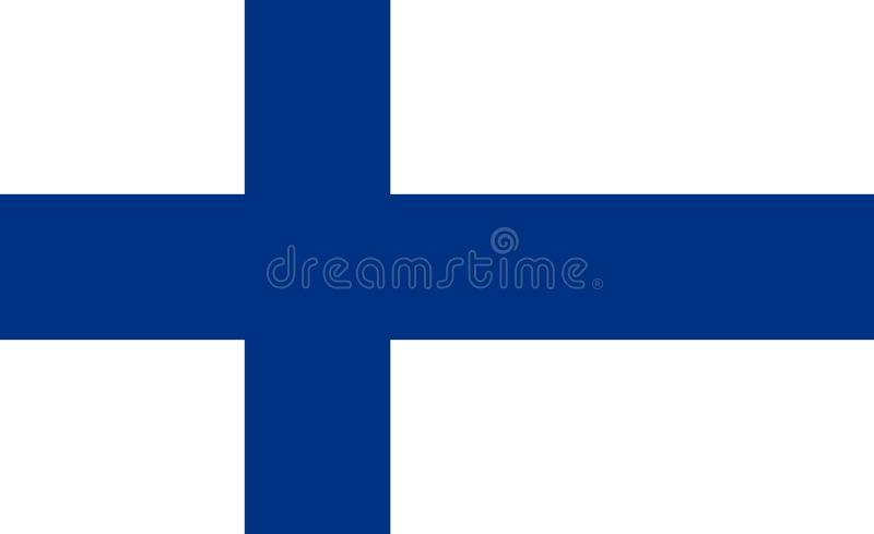 Bandeira nacional de Finlandia Ilustra??o do vetor hels?nquia ilustração stock