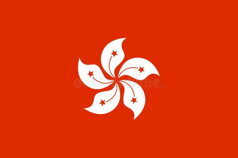 Bandeira nacional de Hong Kong ilustração do vetor