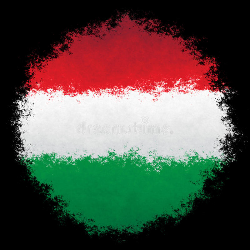 Bandeira nacional de Hungria fotos de stock