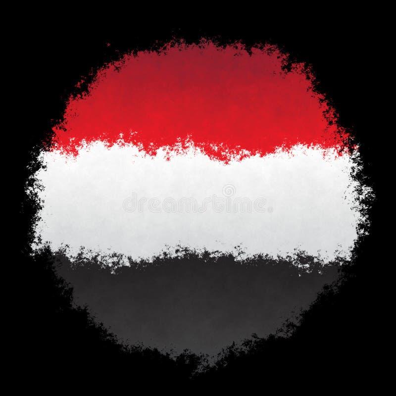 Bandeira nacional de Iémen foto de stock