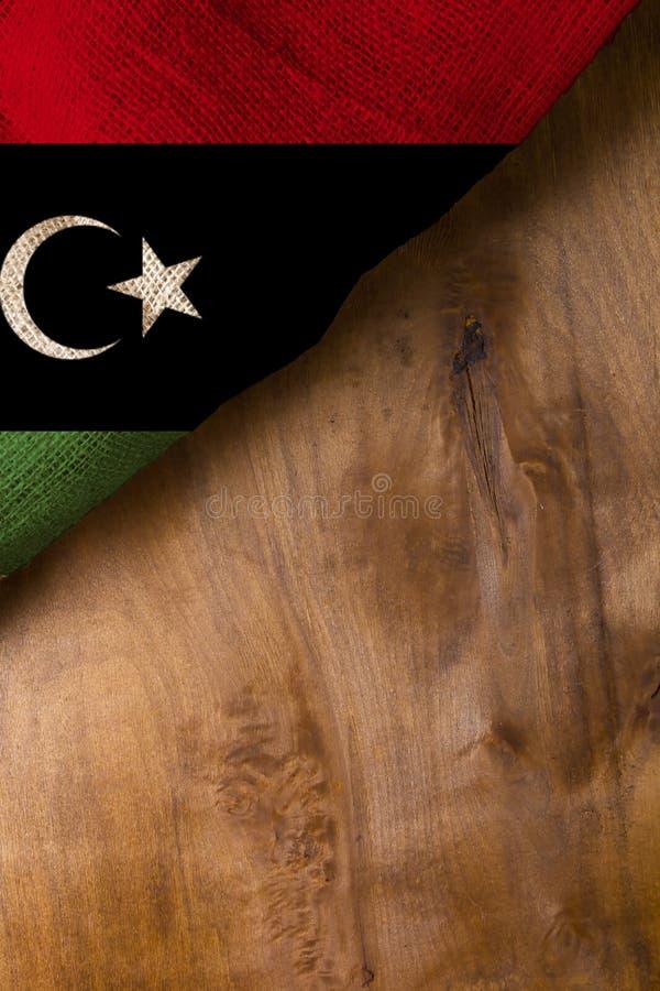 Bandeira nacional de Líbia imagem de stock