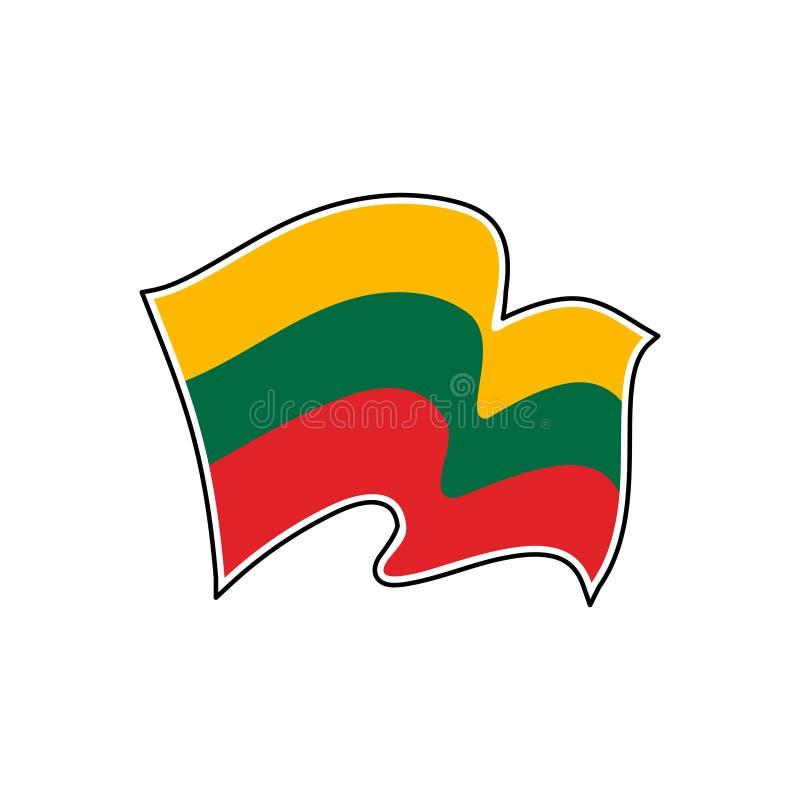 Bandeira nacional de Lithuania Ilustra??o do vetor vilnius ilustração stock