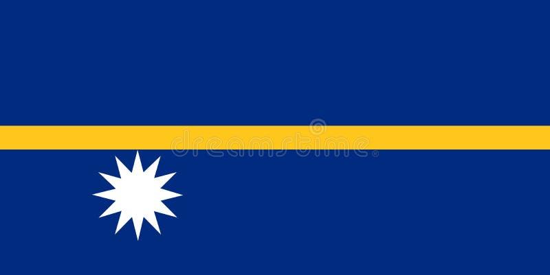 Bandeira nacional de nauru Fundo com a bandeira de Nauru ilustração royalty free