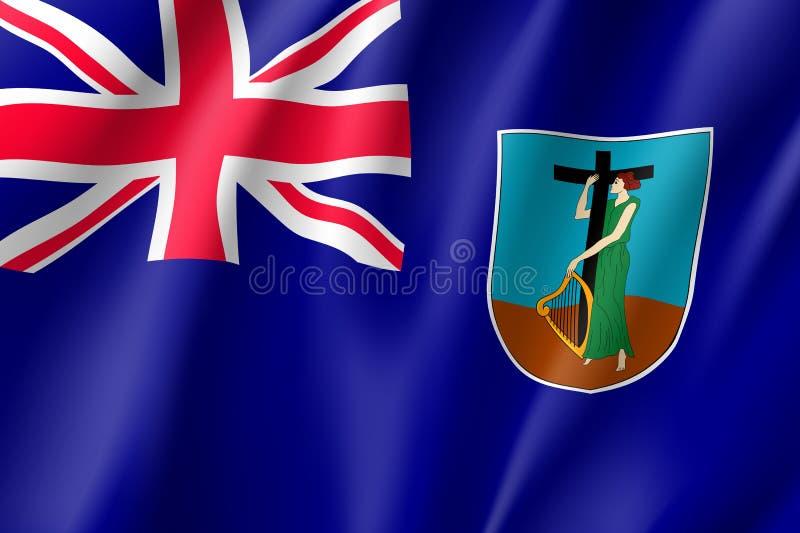 Bandeira nacional de ondula??o de Montserrat Island ilustração stock