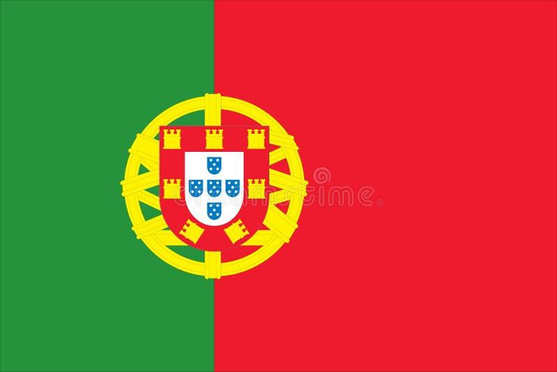 Bandeira nacional de Portugal ilustração stock