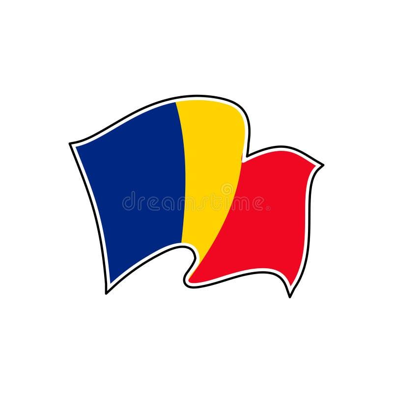 Bandeira nacional de Rom?nia Ilustra??o do vetor bucareste ilustração royalty free