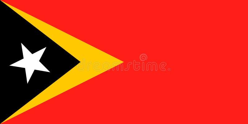 Bandeira nacional de Timor-Leste Ilustra??o do vetor Dili ilustração stock