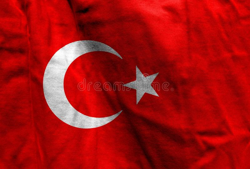 Bandeira nacional de Turquia imagens de stock royalty free