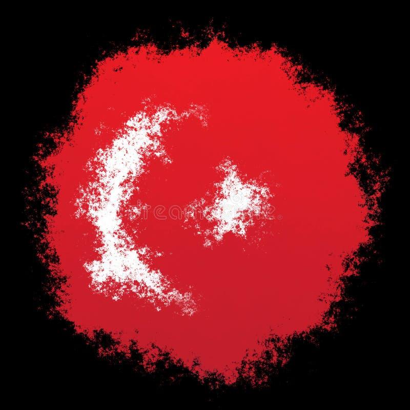 Bandeira nacional de Turquia fotografia de stock royalty free