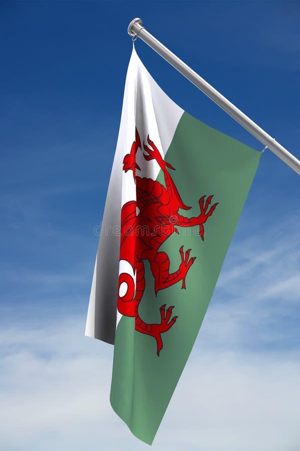Bandeira nacional de Wales ilustração stock